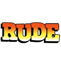 Rude sunset logo
