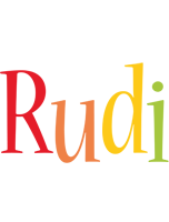 Rudi birthday logo