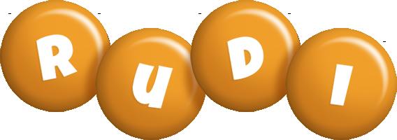 Rudi candy-orange logo