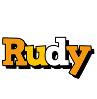 Rudy cartoon logo