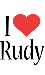 Rudy i-love logo