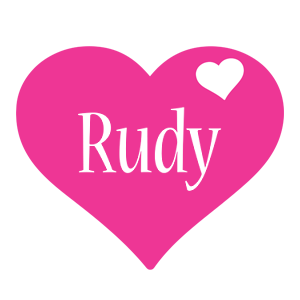 Rudy love-heart logo
