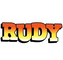 Rudy sunset logo