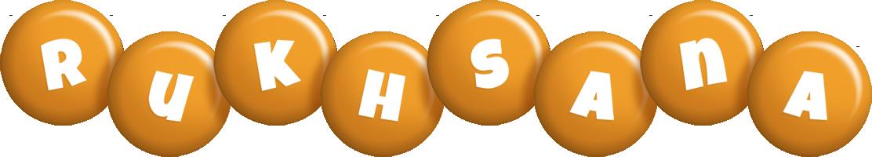 Rukhsana candy-orange logo