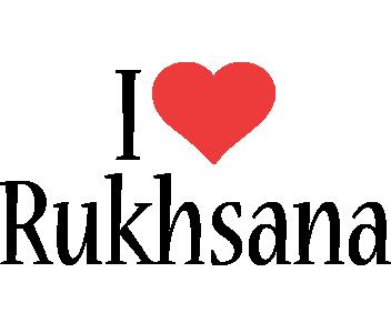 Rukhsana i-love logo