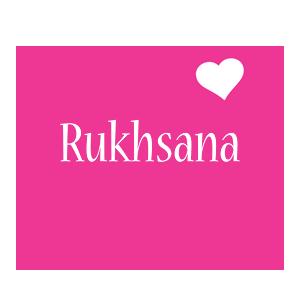 Rukhsana love-heart logo
