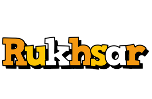 Rukhsar cartoon logo