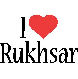 Rukhsar i-love logo