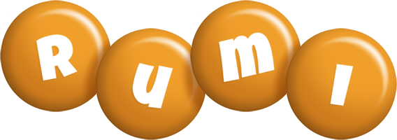 Rumi candy-orange logo