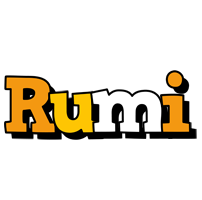 Rumi cartoon logo