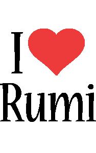 Rumi i-love logo