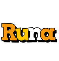 Runa cartoon logo