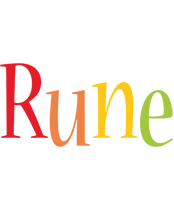 Rune birthday logo
