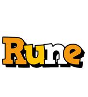 Rune cartoon logo