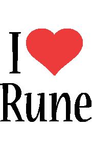 Rune i-love logo