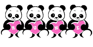 Rune love-panda logo