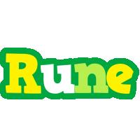 Rune soccer logo