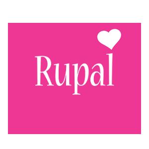 Rupal love-heart logo