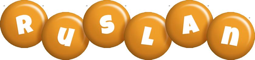 Ruslan candy-orange logo