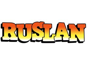 Ruslan sunset logo