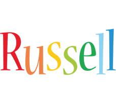 Russell birthday logo