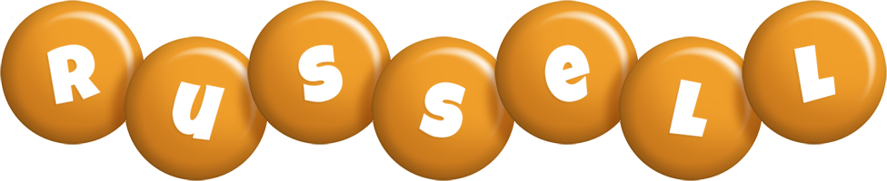 Russell candy-orange logo