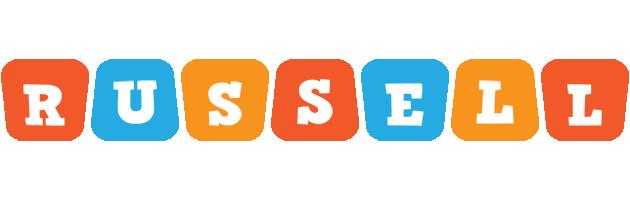Russell comics logo