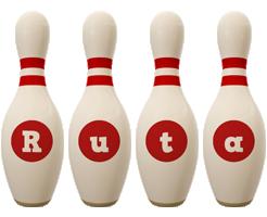 Ruta bowling-pin logo