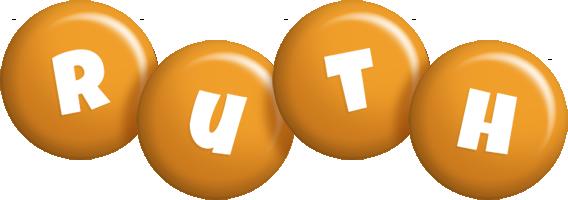 Ruth candy-orange logo