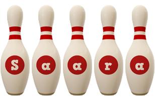 Saara bowling-pin logo
