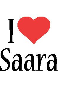 Saara i-love logo