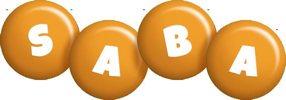 Saba candy-orange logo