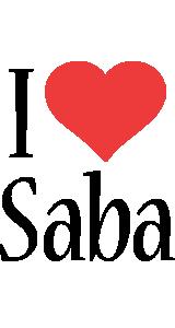 Saba i-love logo