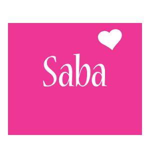 Saba love-heart logo