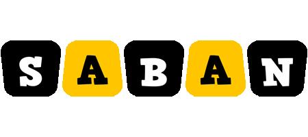 Saban boots logo