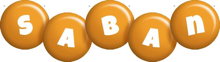 Saban candy-orange logo
