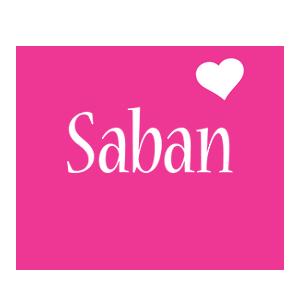 Saban love-heart logo