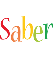Saber birthday logo