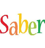 Saber birthday logo
