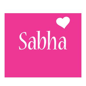 Sabha love-heart logo