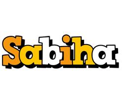 Sabiha cartoon logo