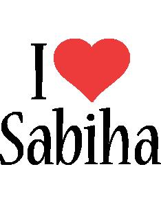 Sabiha i-love logo