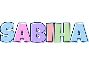 Sabiha pastel logo