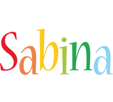 Sabina birthday logo