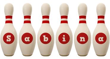 Sabina bowling-pin logo