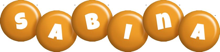 Sabina candy-orange logo