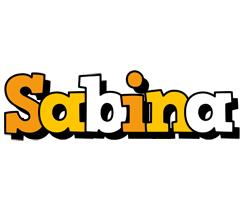 Sabina cartoon logo