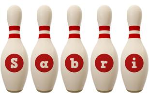 Sabri bowling-pin logo