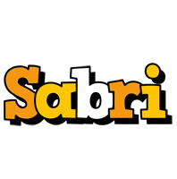 Sabri cartoon logo
