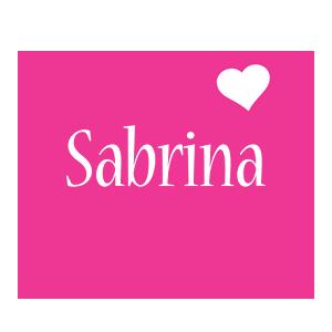 Sabrina love-heart logo